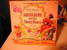 1967 DISNEY GOLDILOCK & THE THREE BEARS RECORD & BOOK