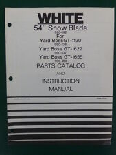 1979 WHITE 54 INCH SNOW BLADE MODEL 990 192 YARD BOSS GT PARTS MANUAL