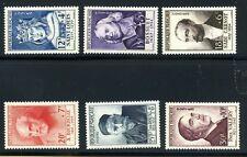 1954-Celebrità dal XII al XX secolo (N. 989/ 994).