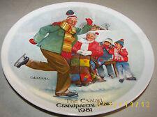 Knowles The Csatari Grandparent Plate 1981 'The Skating Lesson' #15574A