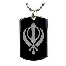 Khanda Sikh Punjabi - Dog Tag Pendant Necklace