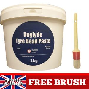 1kg Tyre Fitting Paste Premium Lube Tyre Soap Bead Paste Tub Mount FREE BRUSH