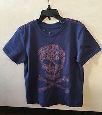 NWT Peek Kids Cotton  Skull Tee Size S(4-5) Boy Navy