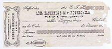 S (SALOMON) M (MAYER) ROTHSCHILD LOBL BANK HOUSE BLANK CHECK PALESTINE WWI ERA