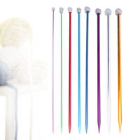 Colorful Aluminum Knitting Single Point Needles Hook Pins Straight Sewing Tools