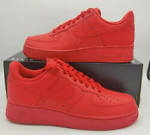 NIKE Air Force 1 Low '07 TRIPLE RED Casual Shoes CW6999-600 Men's Size 9