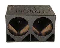 "New Q Power QBOMB12TB Dual 12"" Triangle Ported Car Audio Subwoofer Box Enclosure"