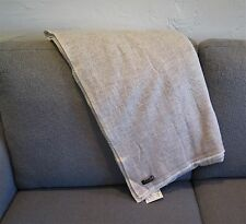 """100% Cashmere Throw/Shawl HandLoomed Nepal Mixed """"Natural"""" Gray & Off White"""