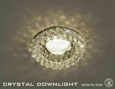 Diyas IL30805CH Crystal Cluster Downlight Round Clear, Inc Lampholder