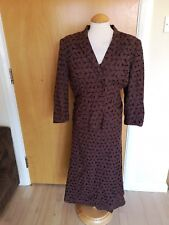 Ladies ALEX & CO Dress Jacket Suit Outfit Size 16 Brown Embroidered Smart Party