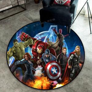 Marvel Heroes Floor Mat Hulk Living Room Non-slip Carpet Iron Man Bedroom Rug