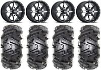 """ITP Cyclone 15"""" Wheels Machined 28"""" Moto MTC Tires Can-Am Defender"""