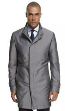 Hugo Boss Mens The Pander Trench Long Coat Jacket in Silver Size 44R Large