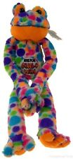 Peace and Love Frog Boys Play Girls Win Hanging Soft Plush Embroidered