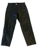 J CREW GENUINE LEATHER BLACK CAPRI PANTS, 0, $995