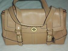 COACH~Hampton Large Leather Satchel Bag Style# 11546~Color: B4/TAN~$428 MSRP~NWT