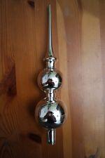 doppelte Baumspitze mit Reflex Silber, nostalgischer Christbaumschmuck, Lauscha