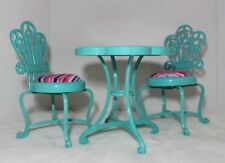 """18"""" Doll Bistro Table + Chairs Fits American Girl Journey Girls Madame Alexander"""