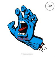 Santa Cruz Screaming Hand Skateboard Sticker 3in classic dot NHS si