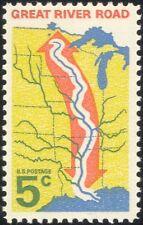 USA 1966 Great River Road/Transport/Motoring/Rivers/Tourism/Maps 1v (n44993)