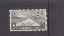 ITALIAN EAST AFRICA-1938-1 LIRE OLIVE -MINT HINGE REMOVED-SG 12-$5-freepost