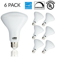 Sunco 6 pack BR30 LED 11W 2700K Soft White Indoor Outdoor Flood Light Bulb