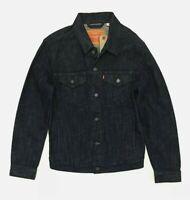 New Levi's Men's Denim Trucker Jacket 'Dark Wash' Blue 100% Cotton size small