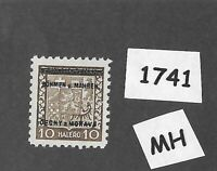 #1741   MH 1939 Overprint stamp 10 Hal BaM Protectorate / Third Reich occupation