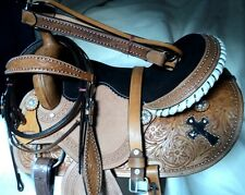 western tack trail pleasure leather horse saddle cowboy headstall breastplate