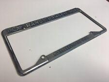 randy hansen chevrolet Geo Car license plate frame Vintage