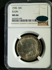1936 U.S. ELGIN Commemorative Half $ - MS-66 (NGC, CAC) stk#2009