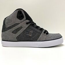 DC SHOES PURE HIGH TOP WC TX SE GREY WHITE GREY TRAINERS