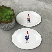 Rae Dunn Gnome Elf Platter Plate - merry mischief - New