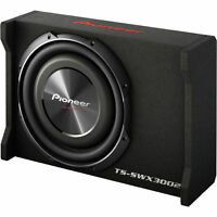 """Pioneer TS-SWX3002 400W RMS 12"""" Shallow Mount Sealed Car Subwoofer Enclosure/Box"""