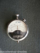 17962 Altes Voltmeter deutsch um 1900 rare verbastelt Taschenuhr 600 OHM