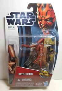 2012 STAR WARS MOVIE HEROES Galactic Battle Game MH04 RED BATTLE DROID Fig NEW