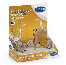 Papo 50099 Suricata 3 Piezas en una Caja de regalo Animales salvajes
