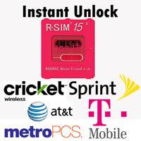 R-SIM15 Nano Unlock RSIM Card for iPhone 11 Pro XS Max XR 8 7 6s Plus iOS 13 Lot