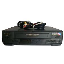 Quasar VCR/VHS Player Recorder VHQ660 4-Head Hi-Fi Stereo Tested No Remote