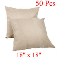 """Upgraded 18"""" x 18'' Linen Sublimation Blanks PillowCase Cushion Cover DIY Print"""