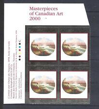 Canada MASTERPIECES OF CDN ART 2000 PLATE BLOCK SCOTT 1863 VF MINT NH (BS14250)