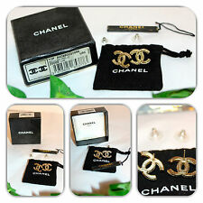 IMMACULATE-CHANEL VINTAGE BOUCLES OREILLE Z0000 DORE LIMITED EDITION EARRINGS!