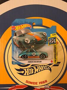 Hot Wheels 2021 Super Treasure Hunt Porsche 356 Outlaw Euro Short Card Nice 🔥