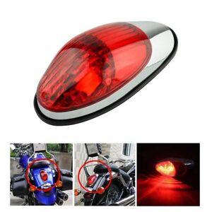 Motorcycle Cruiser Chrome Red Tail Brake Light For Harley Honda Suzuki Yamaha