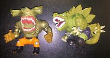 Mattel Street Sharks Extreme Dinosaurs Jab Hammerhead Stegs Stegosaurus Lot