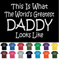 Worlds Greatest DAD Fathers Day Birthday Christmas Gift Funny Daddy Tee T Shirt