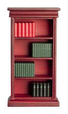 Dollhouse Miniature - MAHOGANY  BOOKSHELF WITH BOOKS - 1/12 scale