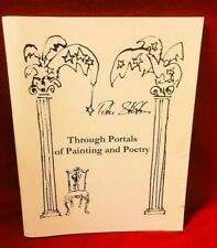 Peter Stilton Through Portals of Painting and Poetry Program Booklet Signed RARE