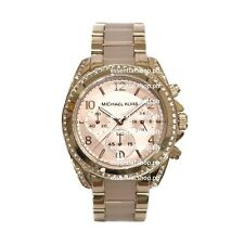 Michael Kors Blair Midsize Rose Gold Tone & Rose Blush Chronograph Watch MK5943