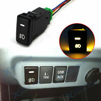 Fog Push Button Switch w/ Amber LED Background Indicator Lights OEM For Toyota